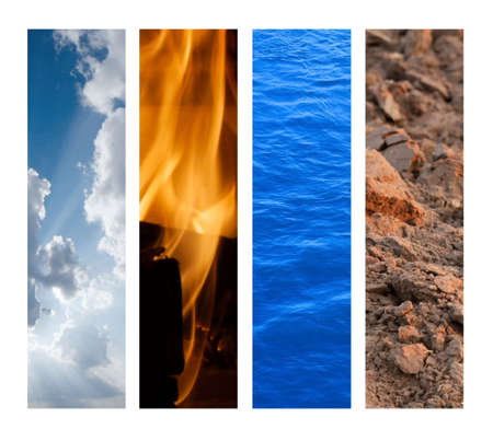 The Four Elements - Air, Fire, Water, Earth
