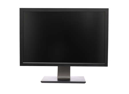 Professional wide monitor isolated on white
