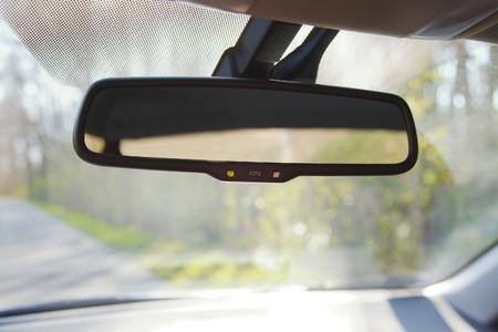 Rear view mirror of a car