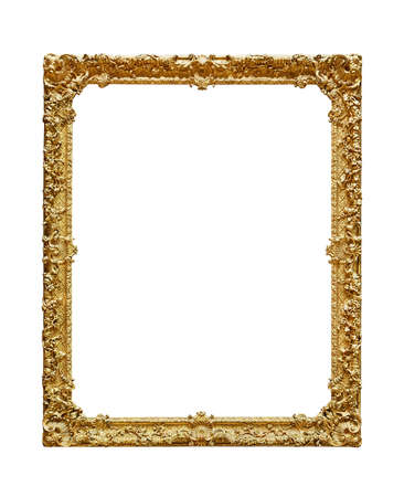 Photo for Empty picture frame on white background - Royalty Free Image