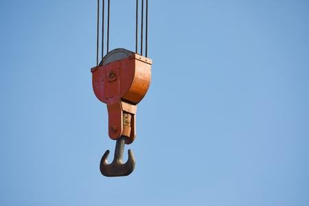 Photo pour Old Crane Hooks - image libre de droit