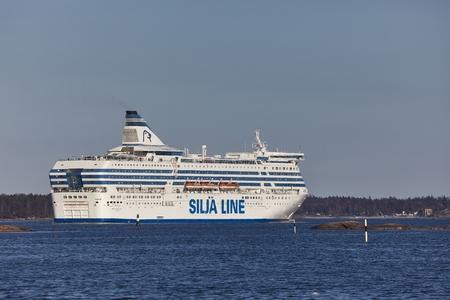 Photo pour Ferry in Helsinki - image libre de droit