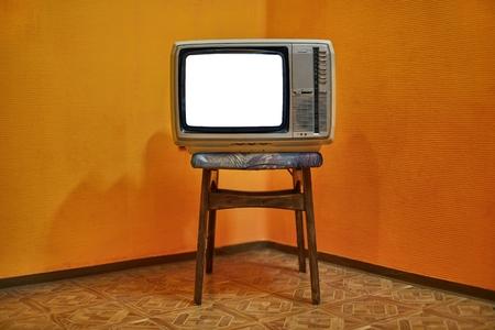 Photo pour Old TV blank screen - image libre de droit