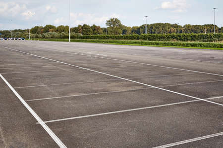 Photo for Carpark with empty spots - Royalty Free Image