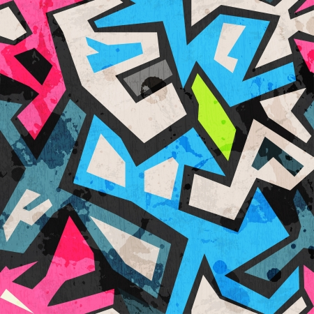 Illustration for industrial graffiti seamless with grunge effect - Royalty Free Image