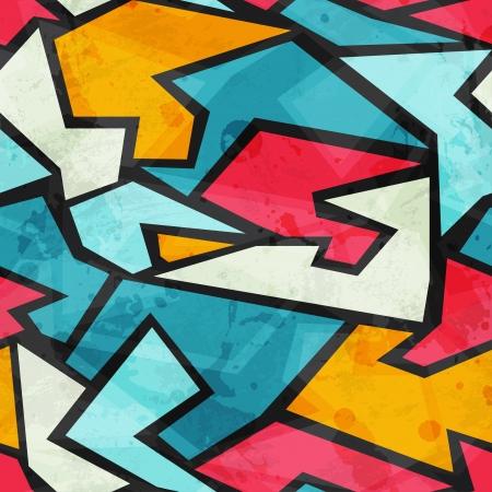 colored graffiti grunge seamless pattern