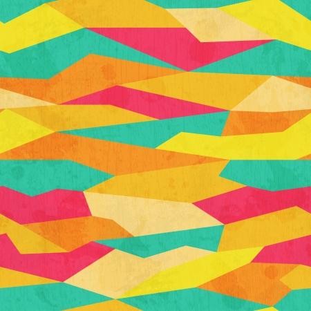 Ilustración de grunge colored triangle seamless pattern - Imagen libre de derechos