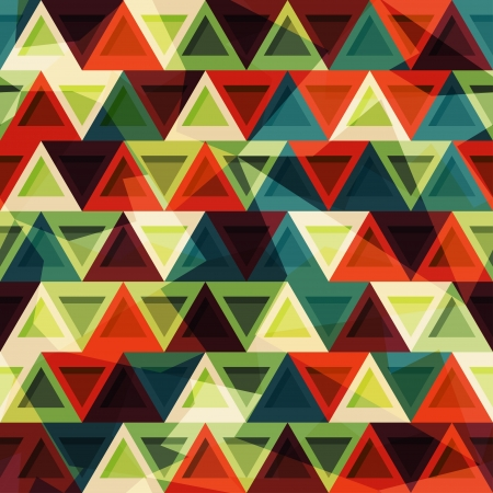 vintage triangle seamless pattern
