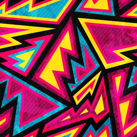 Illustration pour psychedelic colored geometric seamless pattern - image libre de droit