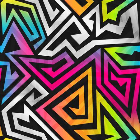 Illustration for rainbow maze seamless pattern - Royalty Free Image