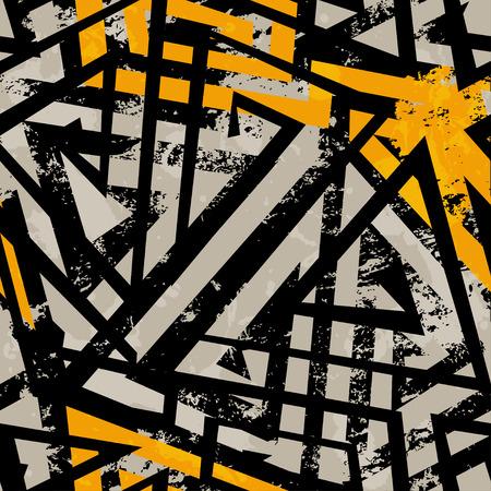 Illustration pour urban geometric seamless pattern with grunge effect - image libre de droit