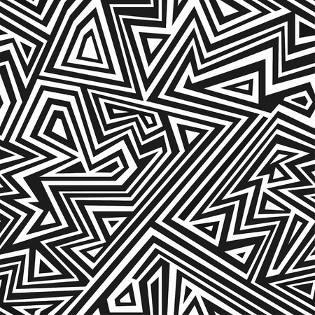 Crazy Zigzags Pattern Wallpaper