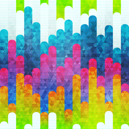 Illustration for Rainbow stripes seamless pattern (vector eps 10) - Royalty Free Image