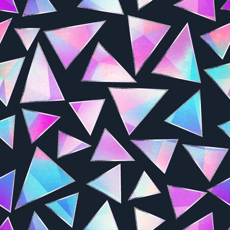 Illustration pour Purple triangle seamless pattern. - image libre de droit