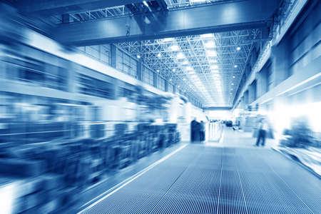 Foto de Large modern storehouse with some goods - Imagen libre de derechos