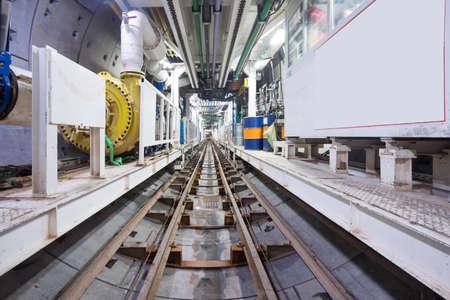Photo pour Subway tunnel under construction - image libre de droit