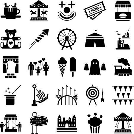 Illustration pour Amusement Park icons - image libre de droit