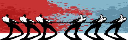 Ilustración de Illustration concept of competition in business - Imagen libre de derechos