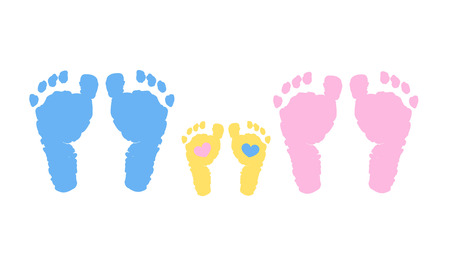 Illustration for Baby family vector background. Pregnancy, mother, father and baby - Royalty Free Image
