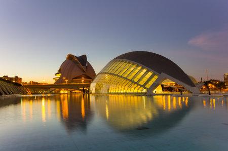 VALENCIA, SPAIN - OCTOBER 07, 2014: L'Hemisferic, a IMAX 3D-cinema, planetarium and laserium in the City of Arts and Sciences (Ciudad de las artes y las ciencias) in Valencia, Spain