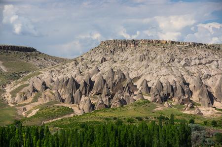 Stone formations in Cappadocia, Central Anatolia,Turkey