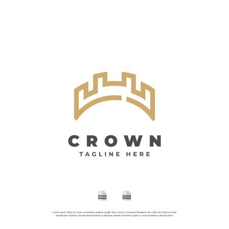 Illustration pour Golden crown logo design. - image libre de droit