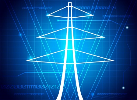 Transmission tower, abstract illustration.