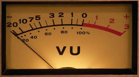 vintage vu meter with light