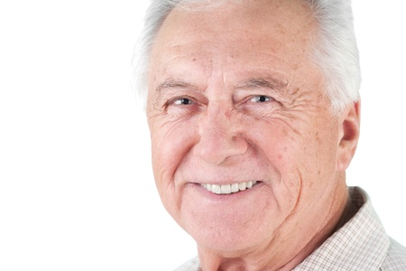Senior mature man male portrait smiling