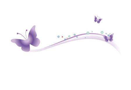 The butterfly on a white background. Vector illustration