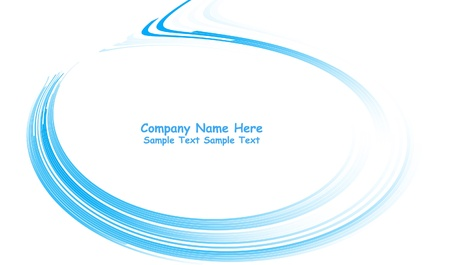 Numerous vector abstract blue lines
