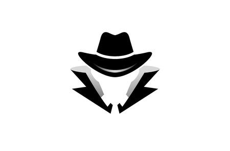 Vektor für Detective Logo Design Illustration - Lizenzfreies Bild