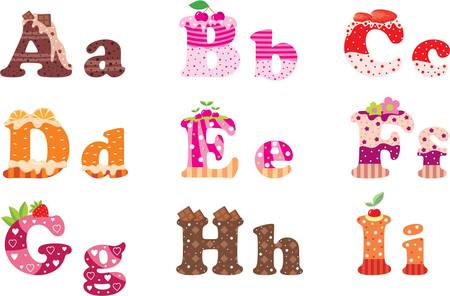 Sweet letters of the alphabet