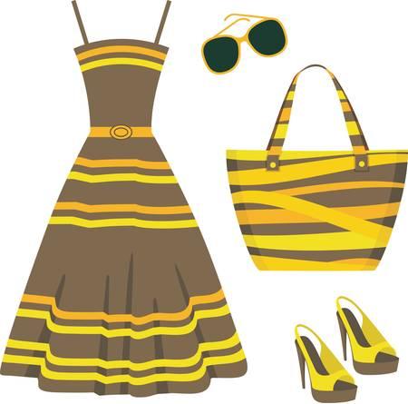Ilustración de Summer set of clothes - Imagen libre de derechos