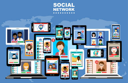 The concept of social networks, blogs and online communication