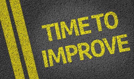 Photo pour Time to Improve - image libre de droit