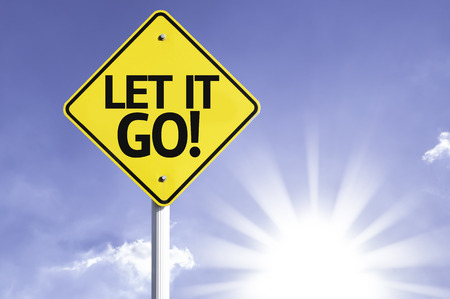 Let it go! sign with sunny background