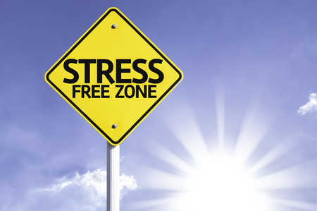 Photo for Stress free zone sign with sunny background - Royalty Free Image