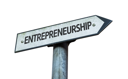 Entrepreneurship sign on white background