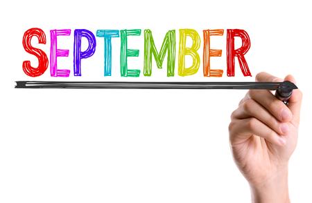 September written with a marker pen