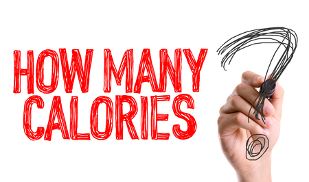 Photo for How many calories? written with a marker pen - Royalty Free Image