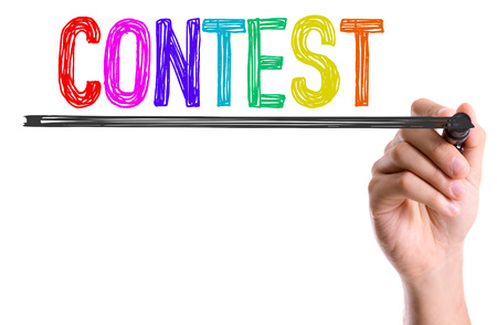 Contest written with a marker pen