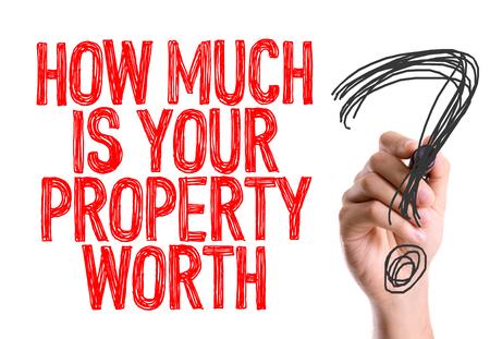 Foto für How much is your property worth? written with a marker pen - Lizenzfreies Bild
