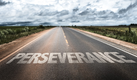 Perseverance written on the road