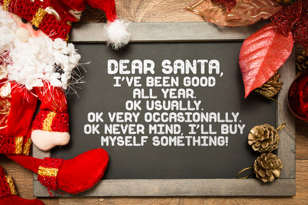 Blackboard with a Christmas Funny text in a conceptual image