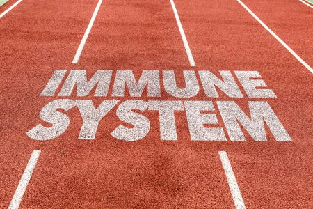 Photo for Running track with the word Immune system - Royalty Free Image