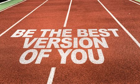 Photo pour Running track with the words Be The Best Version Of You - image libre de droit