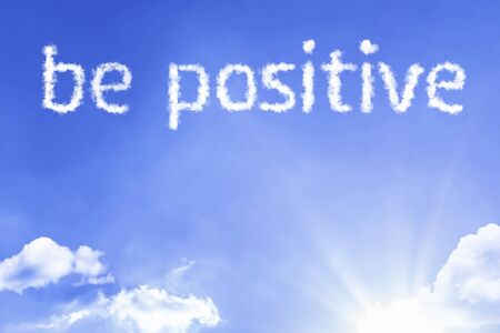 Photo pour Be positive with sky concept - image libre de droit