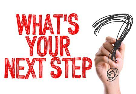 Photo pour Hand drawing what is your next step - image libre de droit