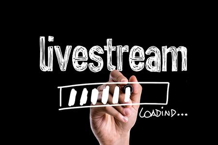 Photo pour Livestream loading - image libre de droit